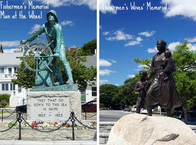 Statue mémorial des pêcheurs à Gloucester, MA