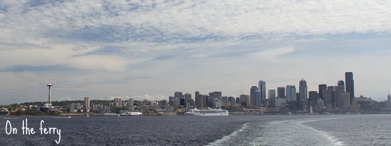 Seattle vu du ferry