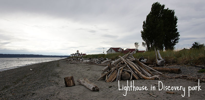 lighthouse in discovery park - seattle - le phare