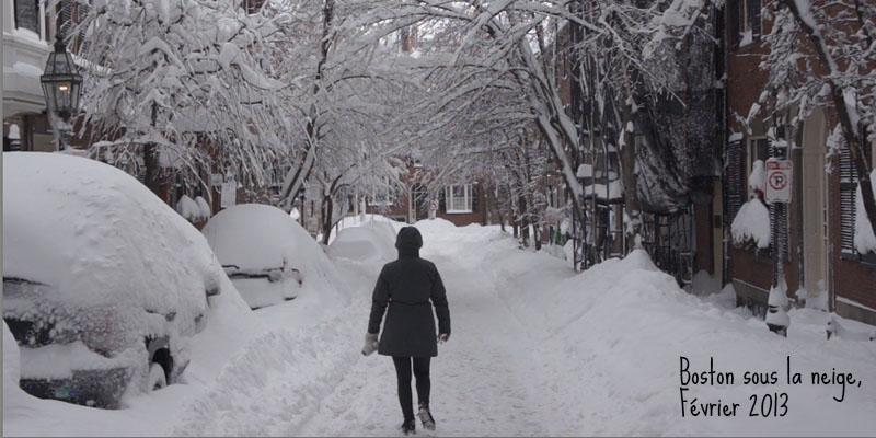 Boston sous la neige