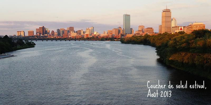 coucher de soleil estival Boston
