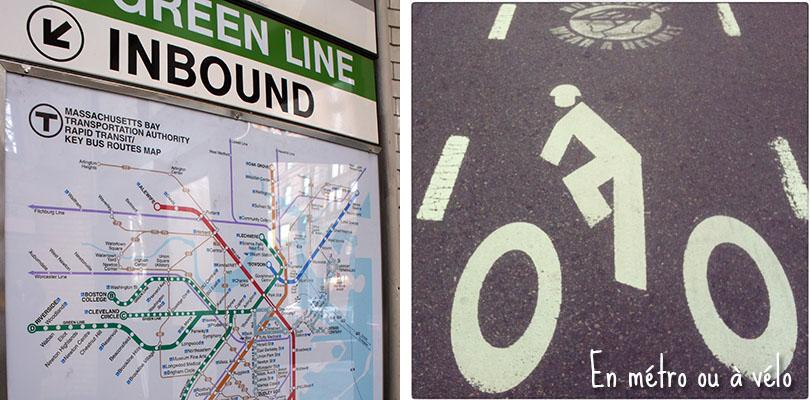 métro velo à Boston