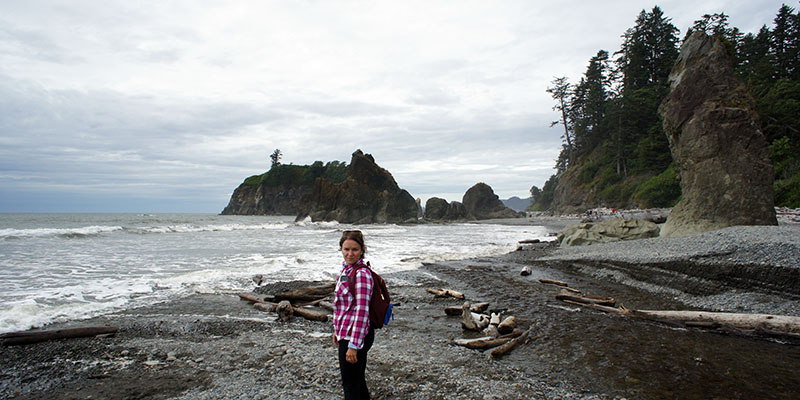 Mathilde - Ruby Beach - Olympic National Park