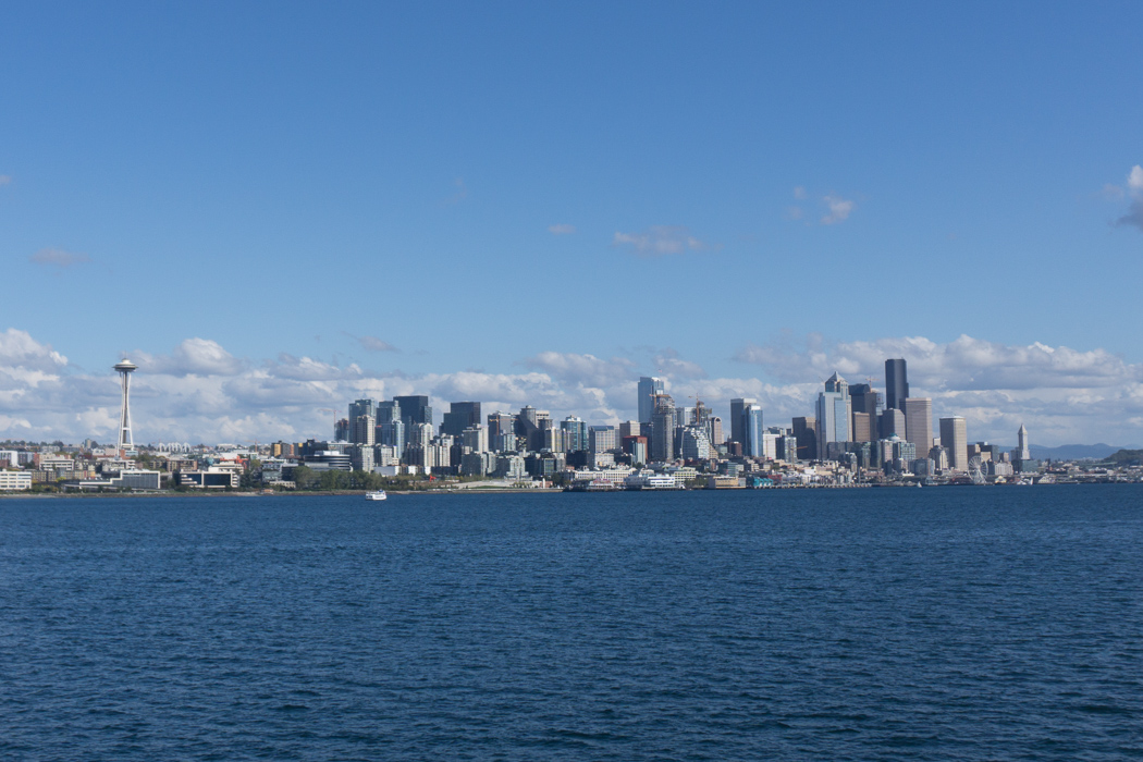 Seattle Washington vue depuis le ferry
