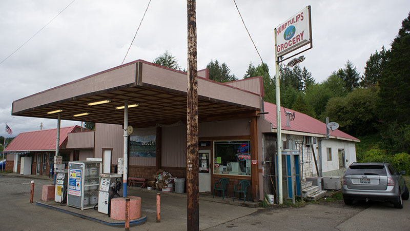 Gas station vers Olympic National Park