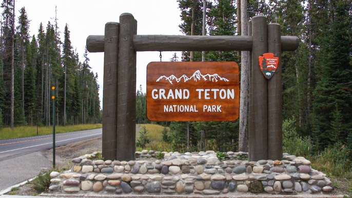 Grand Teton National Park - entrance
