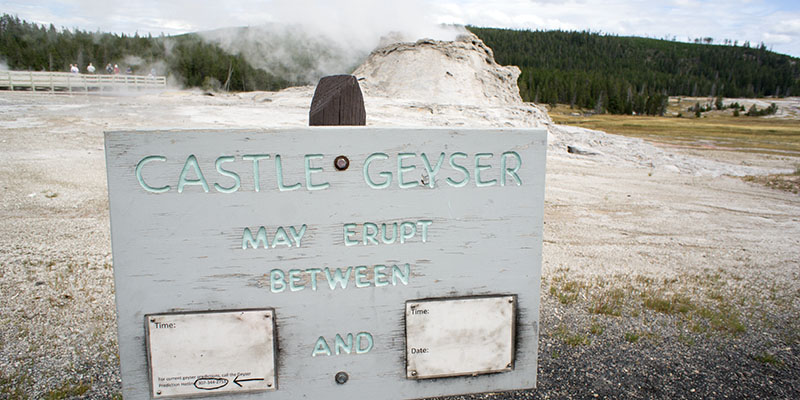 Castle Geyser - Yellowstone National Park