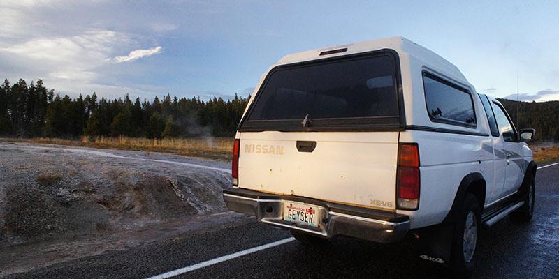 Voiture Geyser Yellowstone