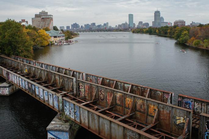 L'automne à Boston - l'été indien - vue de Boston