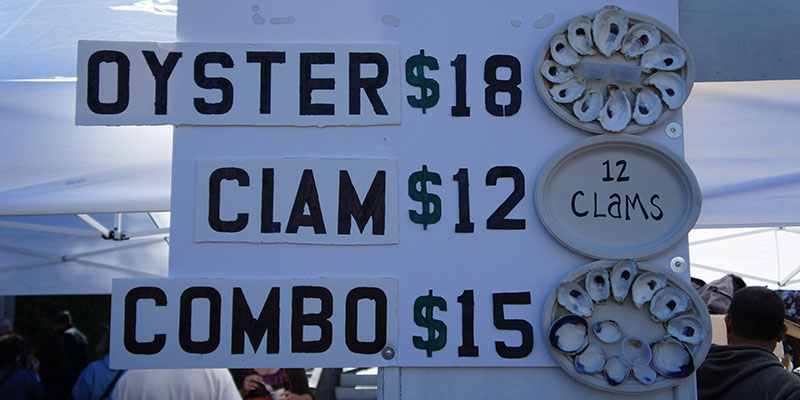 Oyster, Clam and Combo - Oyster Fest WellFleet
