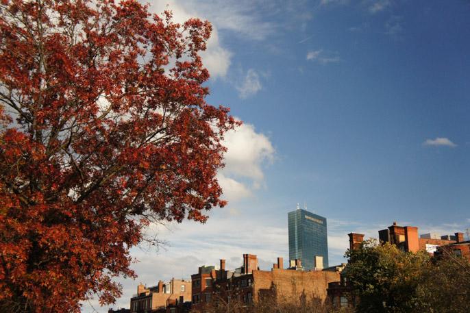 L'automne à Boston - l'été indien - Hancock Tower 1