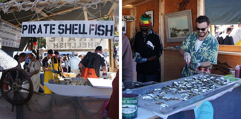Oyster Fest, stands Shellfish, Wellfleet Cape Cod
