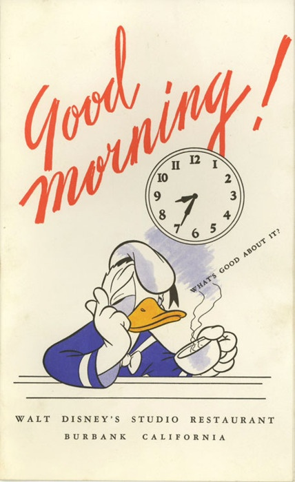 Good Morning vintage poster