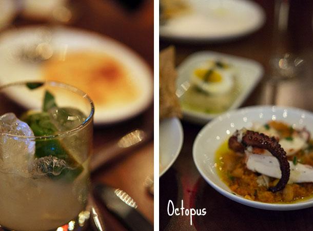 sarma - cocktails et octopus