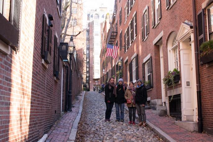 Laura, Charles, Manu, Mathilde - Acorn Street, Boston