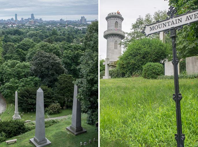 La montagne - Mount Auburn Cemetery