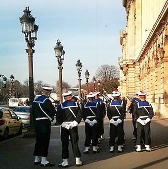 Les marins place de la Concorde
