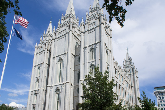 Eglise des mormons à Salt Lake City