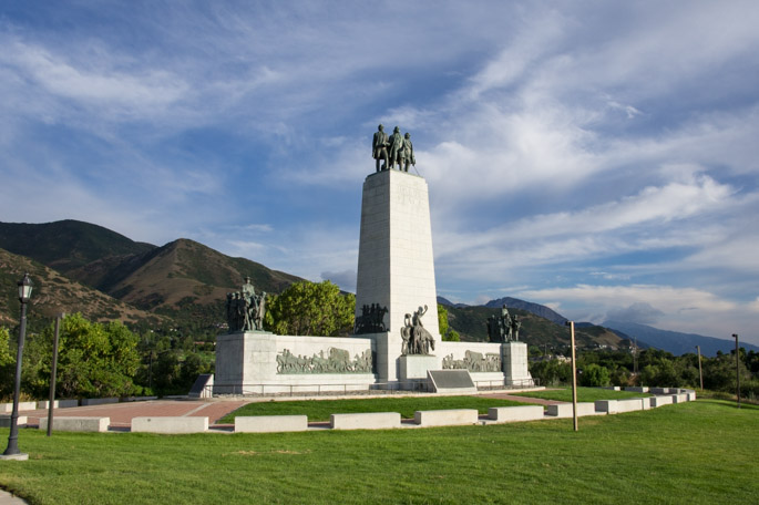 Le monument des mormons Salt Lake CIty