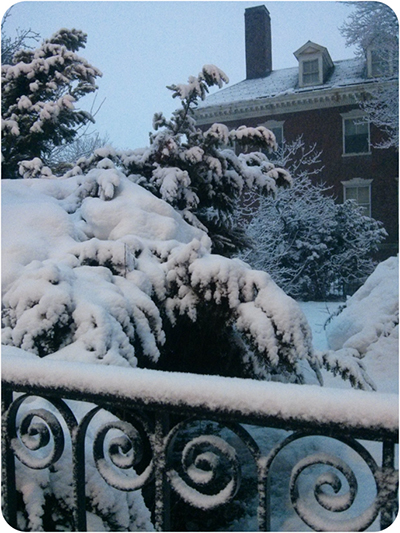 La neige à Boston
