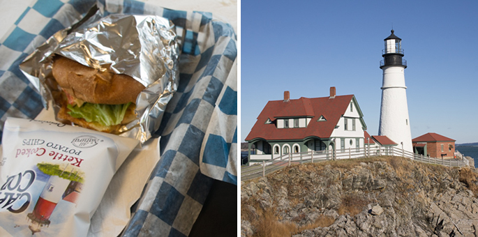 Chips Cape Cod et phare Maine