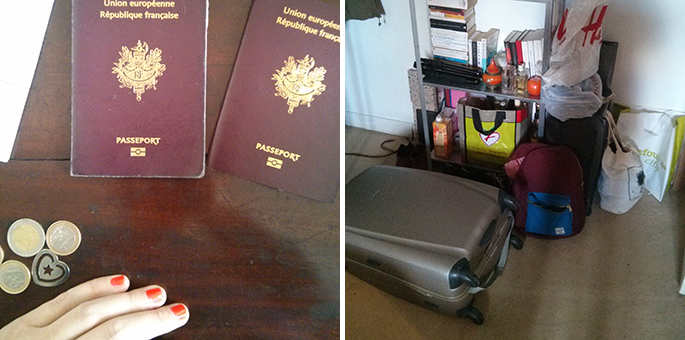 Passeports et valises