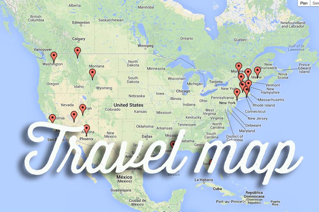Our travel map !