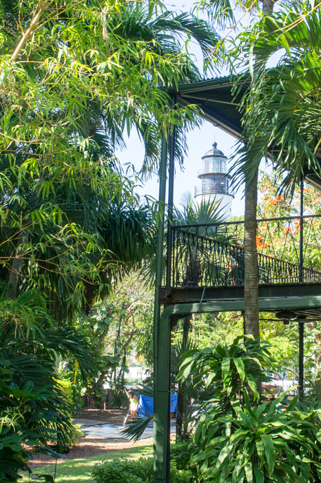 Phare Key West devant la maison d'Hemingway