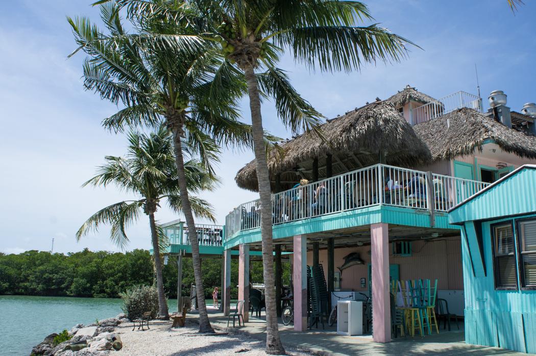 Hutte restaurant au bord de l'eau à Marathon, Florida