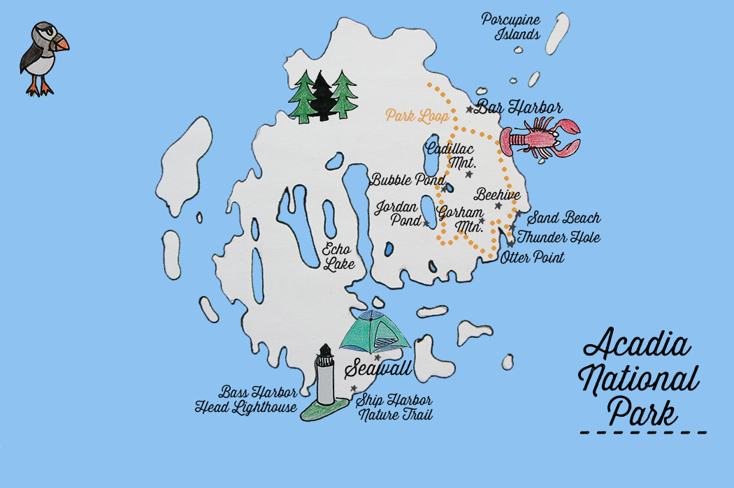 Acadia National park - carte