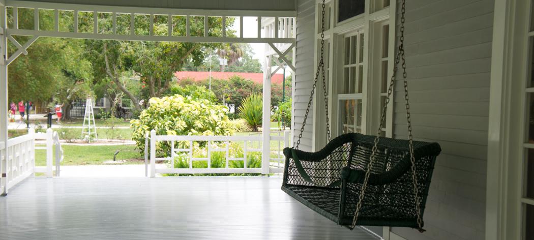 Balancelle - maisons d'hiver de Ford et Edison - Fort Myers, Floride