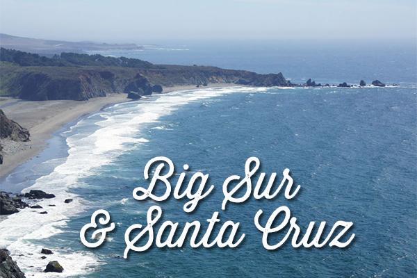 big sur et santa cruz - voyage en Californie - océan pacifique