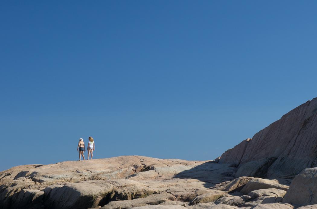 Meghan et moi à la plage - little compton, Rhode Island