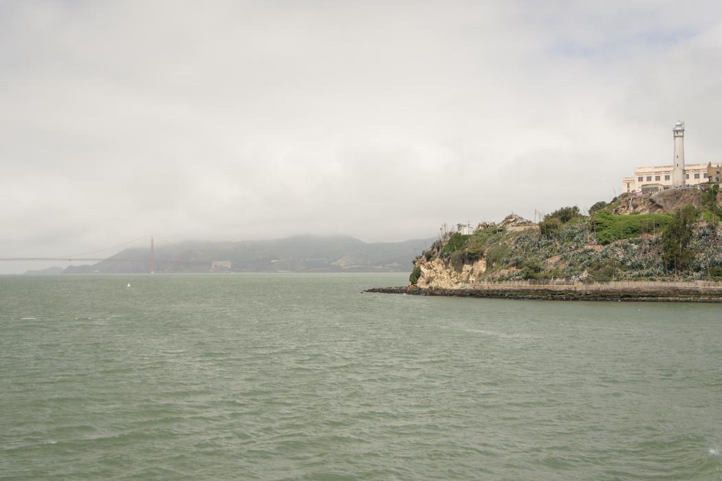 Alcatraz et le Golden gate Bridge - San francisco