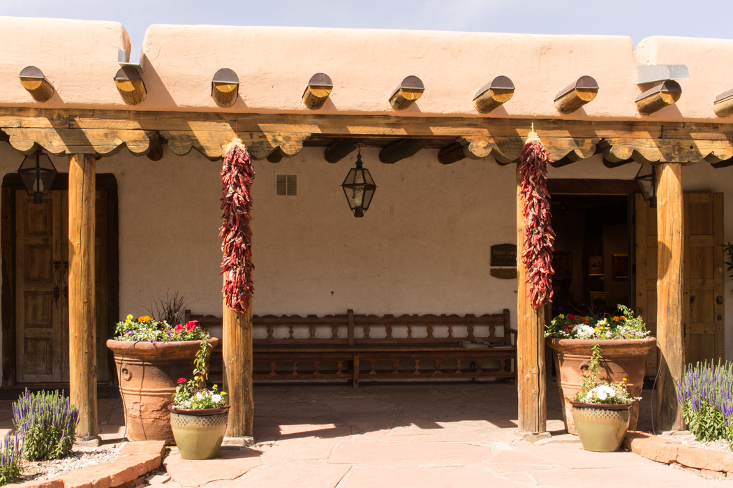 Autour de la place centrale de Santa Fe - New Mexico