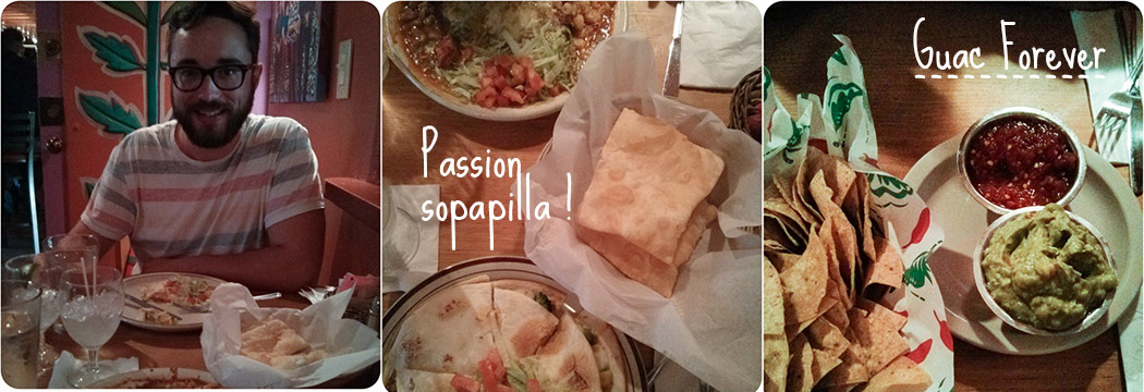 santa fe food - sopapilla, guaca et margarita