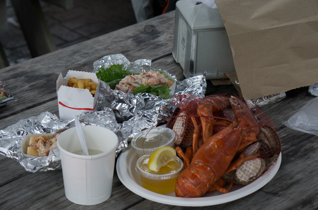 Seafood celebration - des bons fruits de mer de Nouvelle angleterre - lobster, clam chowder à Martha's Vineyard