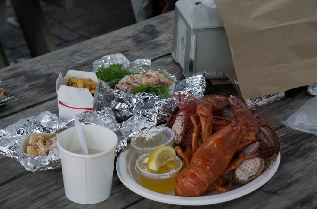 Seafood celebration - des bons fruits de mer de Nouvelle angleterre - lobster, clam chowder à Martha's Vineyard