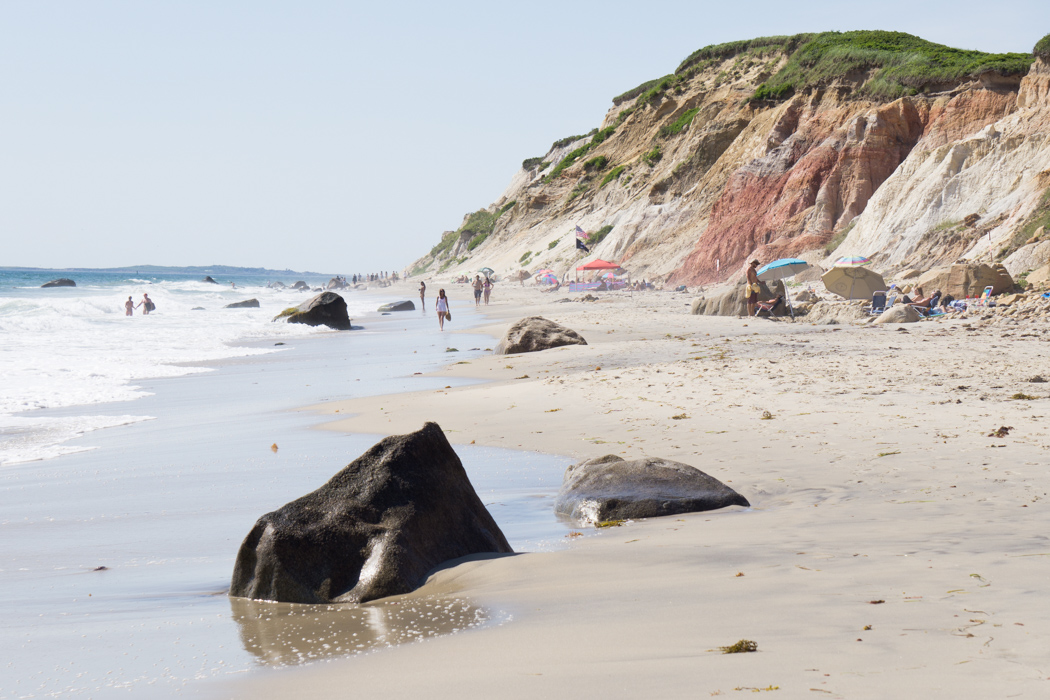 La superbe plage de Aquinnah - Martha's Vineyard