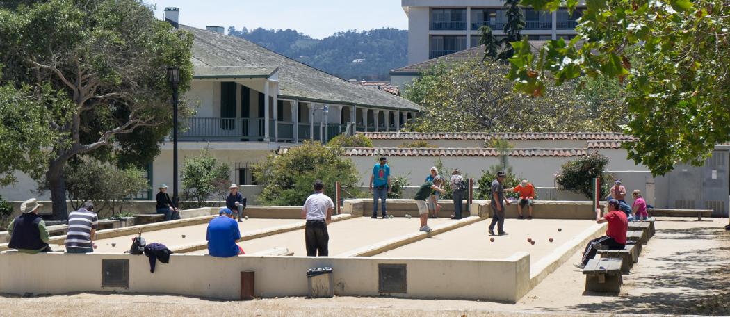 Joueurs de pétanque à Monterey, Californie