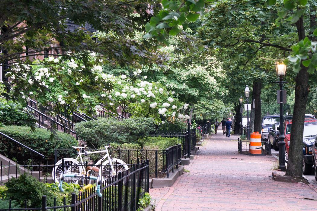 Back Bay Jolie rue de Boston