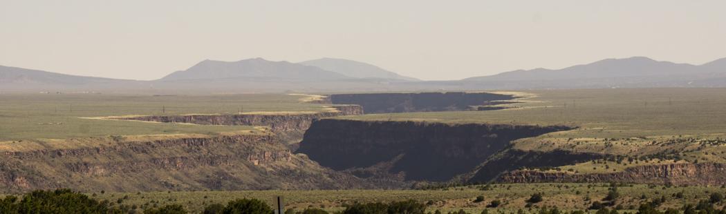 Le Rio Grande au Nouveau Mexique canyon