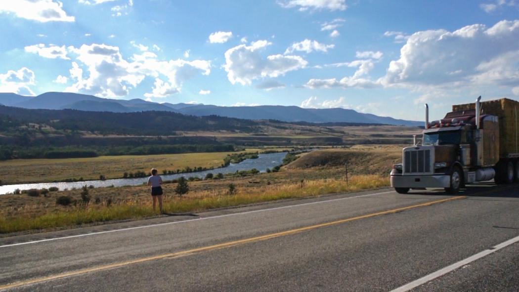 Montana - Rivière et camion