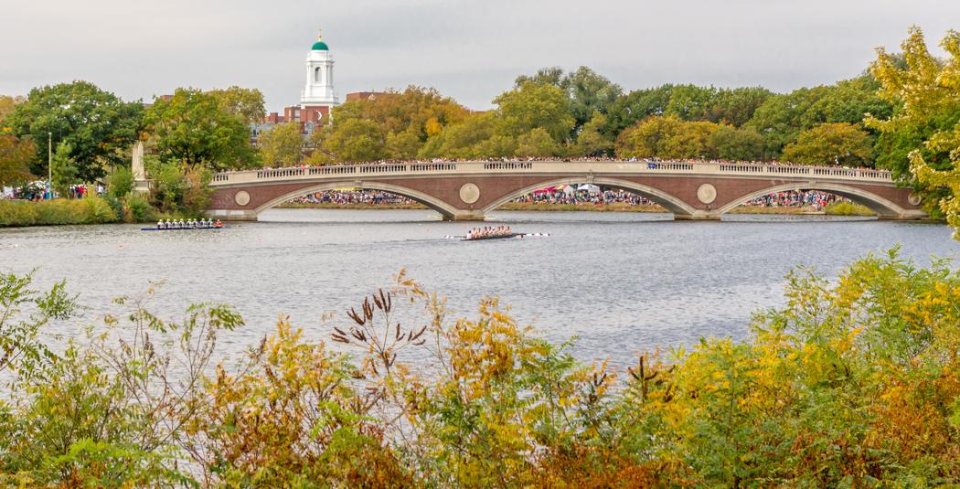 Rowing au bord de la Charles River en automne