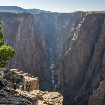 road trip sud ouest américain Black Canyon of the Gunnison Colorado la vue après la marche matinale