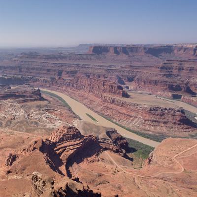 Canyonlands National Park vue sur les deux rivières Moab Utah