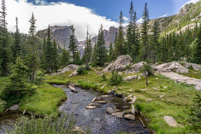 Rocky Mountain National Park - Sur la route après le Bear Lake - Colorado