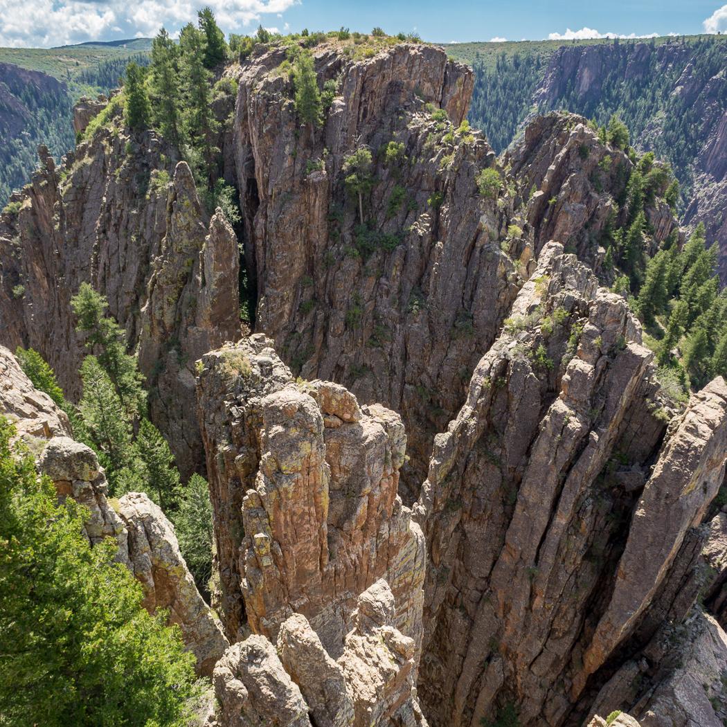 Black Canyon of the Gunnison - National Park - Colorado - road trip Etats-Unis - Vue