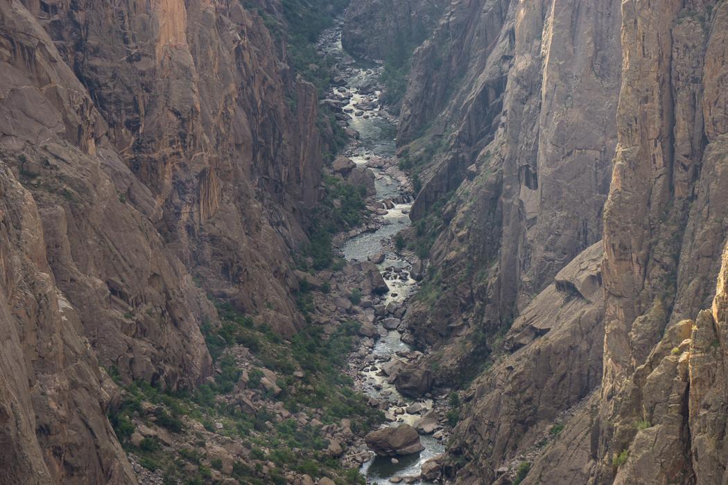 Black Canyon of the Gunnison - National Park - Colorado - road trip Etats-Unis - la rivière Gunnison