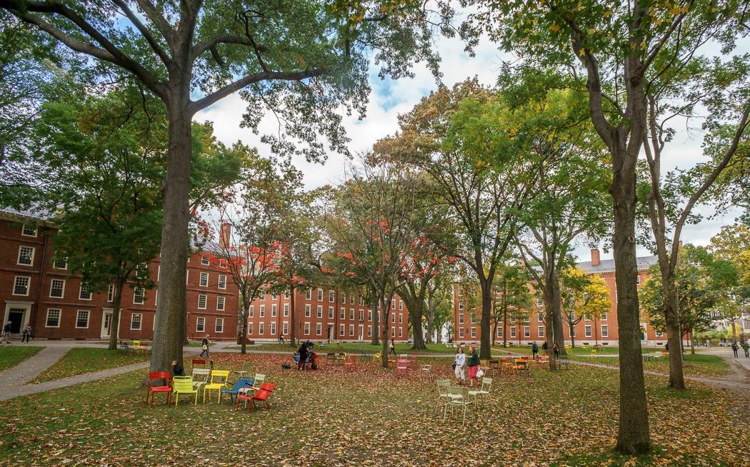 Fall Boston Harvard Yard